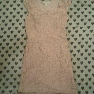 Baby pink lace dress